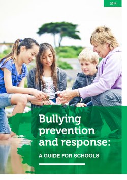 Bullying prevention and response