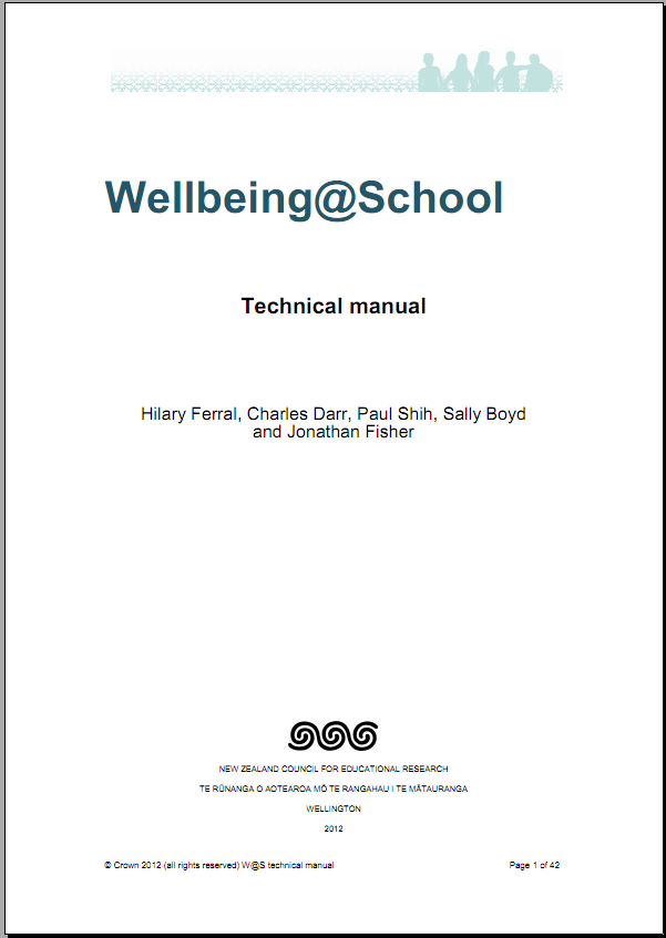 Wellbeing at School technical manual